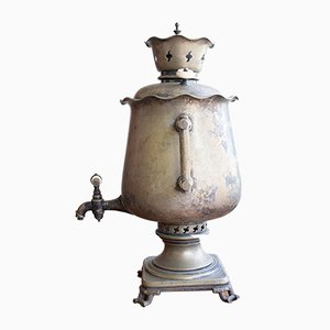 Antique Russian Samovar with Tray