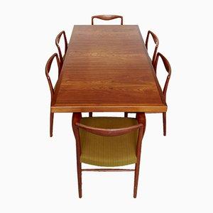 Juego de mesa y sillas de comedor de Nanna Ditzel para Søren Willadsen Møbelfabrik, años 70