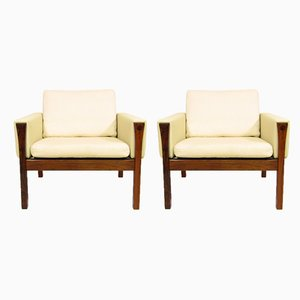 Vintage Rosewood Lounge Chairs by Hans J. Wegner for A.P. Stolen, 1960s, Set of 2
