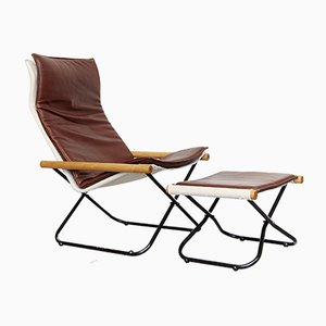 NychairX Folding Chair and Ottoman by Takeshi Nii, 1970s