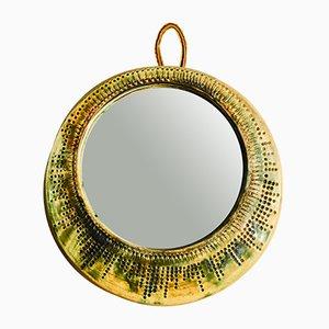 Vintage Spiegel mit Keramikrahmen, 1960er