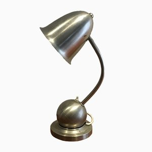 Modernist Dutch Brass Table Lamp by Willem Hendrik Gispen for daalderop, 1940s