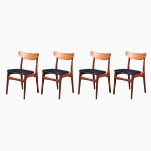 Mid-Century Dining Chairs by Schiønning & Elgaard for Randers Møbelfabrik, Set of 4