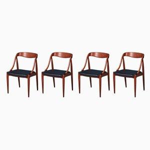 Mid-Century Esszimmerstühle aus Teak von Johannes Andersen, 4er Set