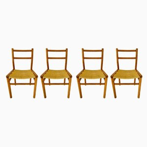 Dining Chairs by Pierre Gautier-Delaye for Meubles Weekend, 1960s, Set of 4