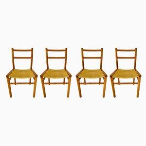 Esszimmerstühle von Pierre Gautier-Delaye für Meubles Weekend, 1960er, 4er Set
