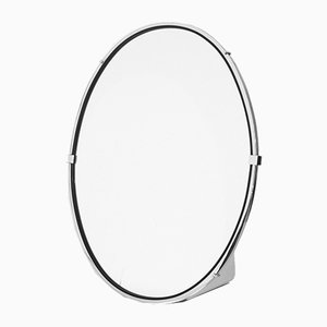 Oval Chrome Metal Mirror, 1960s