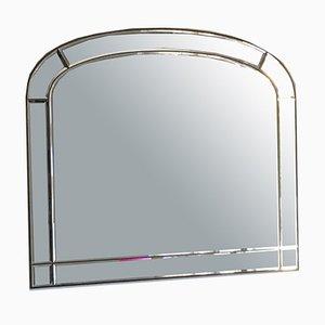Espejo italiano con marco de latón, años 50