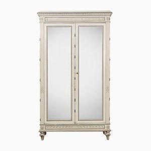 Armadio Luigi XVI antico con specchio