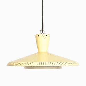 Lámpara de techo amarilla de Louis C. Kalff para Philips, años 60