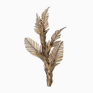 Hollywood Regency Brass Palm Tree Sconce, 1970s
