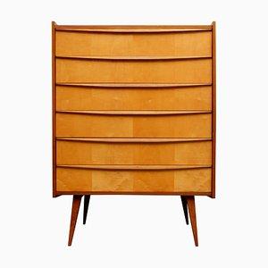 Vintage Maple & Walnut Veneer Dresser, 1950s