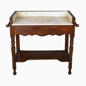 Antique French Oak and Marble Dressing Table