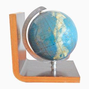 Sujetalibros vintage esférico de Columbus Globus, años 50