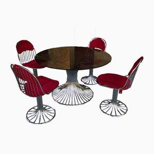 Conjunto de mesa y sillas de comedor Mid-Century. Juego de 5