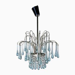 Lámpara de araña de vidrio de Paolo Venini, años 70