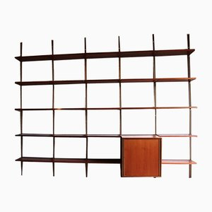Rosewood Modular E22 Bookcase by Osvaldo Borsani for Tecno, 1951