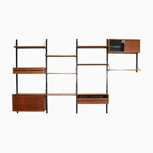 Large Teak Royal Wall Unit by Poul Cadovius for Cado, 1950s