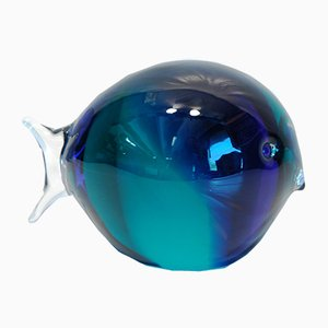 Vintage Glass Fish by Carlo Nason for V. Nason & C., 1991