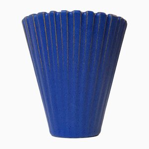 Blue Danish Ceramic Vase by Einar Johansen, 1960s