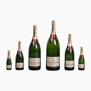 Champagne Bottles from Moët & Chandon, 1980s, Set of 6