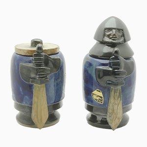 Vaso vintage in ceramica di Roger Guerin per Guerin Bouffioulx, Belgio, 1927