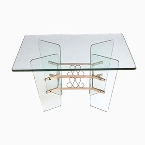 Rectangular Glass Coffee Table by Pietro Chiesa for Fontana Arte, 1940s