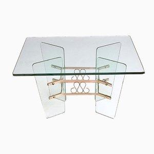 Tavolino da caffè in vetro di Pietro Chiesa per Fontana Arte, anni '40
