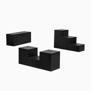 Tavoli modulari Gli Scacchi di Mario Bellini per B&B Italia, 1968, set di 3
