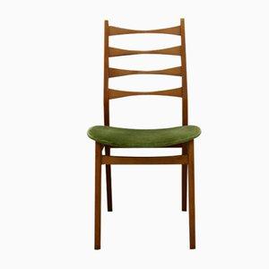 Stuhl mit Gestell aus Teak & Bezug aus grünem Samt, 1960er