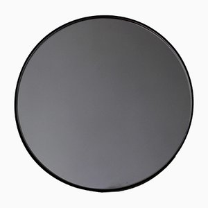 Extra Large Black Tinted Orbis Round Mirror with Black Frame by Alguacil & Perkoff