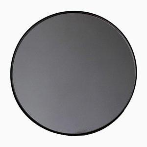 Extragroßer runder schwarz getönter Orbis Spiegel mit schwarzem Rahmen von Alguacil & Perkoff