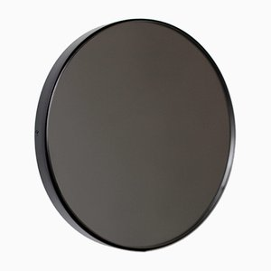 Large Black Tinted Orbis Round Mirror with Black Frame by Alguacil & Perkoff