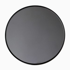 Black Tinted Orbis Round Mirror with Black Frame by Alguacil & Perkoff