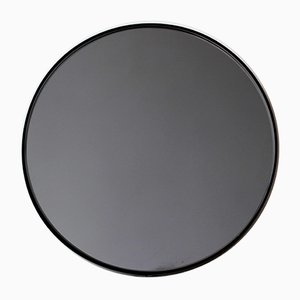 Medium Black Tinted Orbis Round Mirror with Black Frame by Alguacil & Perkoff