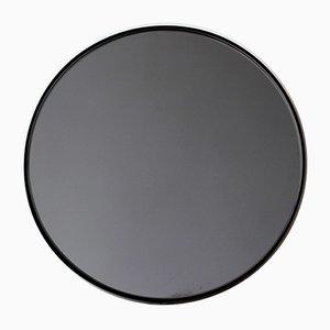 Mittelgroßer runder schwarz getönter Orbis Spiegel mit schwarzem Rahmen von Alguacil & Perkoff