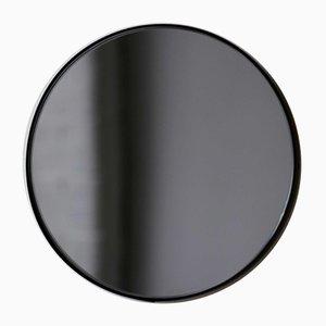 Kleiner runder schwarz getönter Orbis Spiegel mit schwarzem Rahmen von Alguacil & Perkoff
