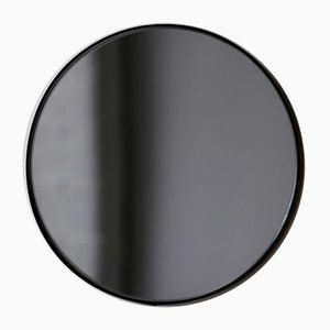 Small Black Tinted Orbis Round Mirror with Black Frame by Alguacil & Perkoff
