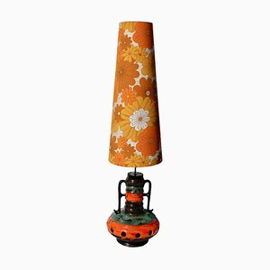 Orange and Green Fat Lava Floor Lamp, 1962