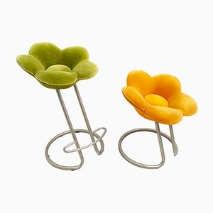 Italian Soshun Flowers Stools by Masonari Umeda for Edra, 1990s, Set of 2