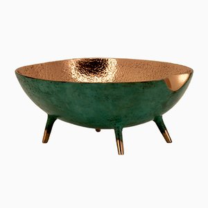 Bronze Bowl or Vide Poche with Legs from The Design Foundry