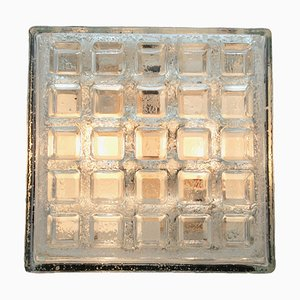 Vintage Textured Glass Flush Mounts from Limburg & Bega, 1970s, Set of 2