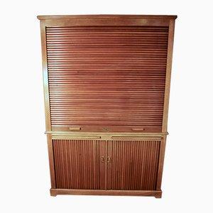Mobiletto vintage in legno di noce massiccio, anni '50