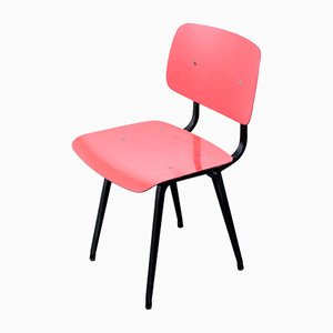 Dutch Coral Red Dining Chair by Friso Kramer for Ahrend De Cirkel, 1950s