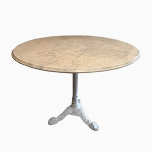 Säulentisch aus Gusseisen & Marmor, 1960er