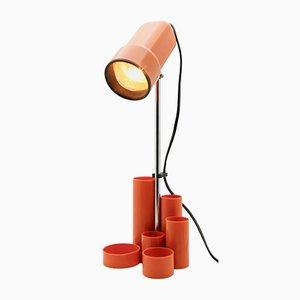 Plastic, Chrome & Enameled Desk Lamp with Pen-Holders, 1960s