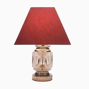 Vintage Chrome & Crystal Ice Cube Table Lamp from Peill & Putzler