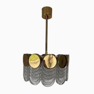 Lampe à Suspension Mid-Century en Verre Givré de Kaiser Idell / Kaiser Leuchten, 1960s