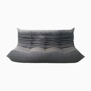 Vintage Grey Wool Tofo Sofa by Michel Ducaroy for Ligne Roset