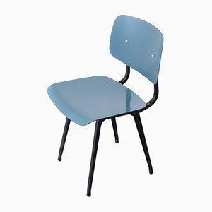 Petrol Blue Dining Chair by Friso Kramer for Ahrend De Cirkel, 1950s